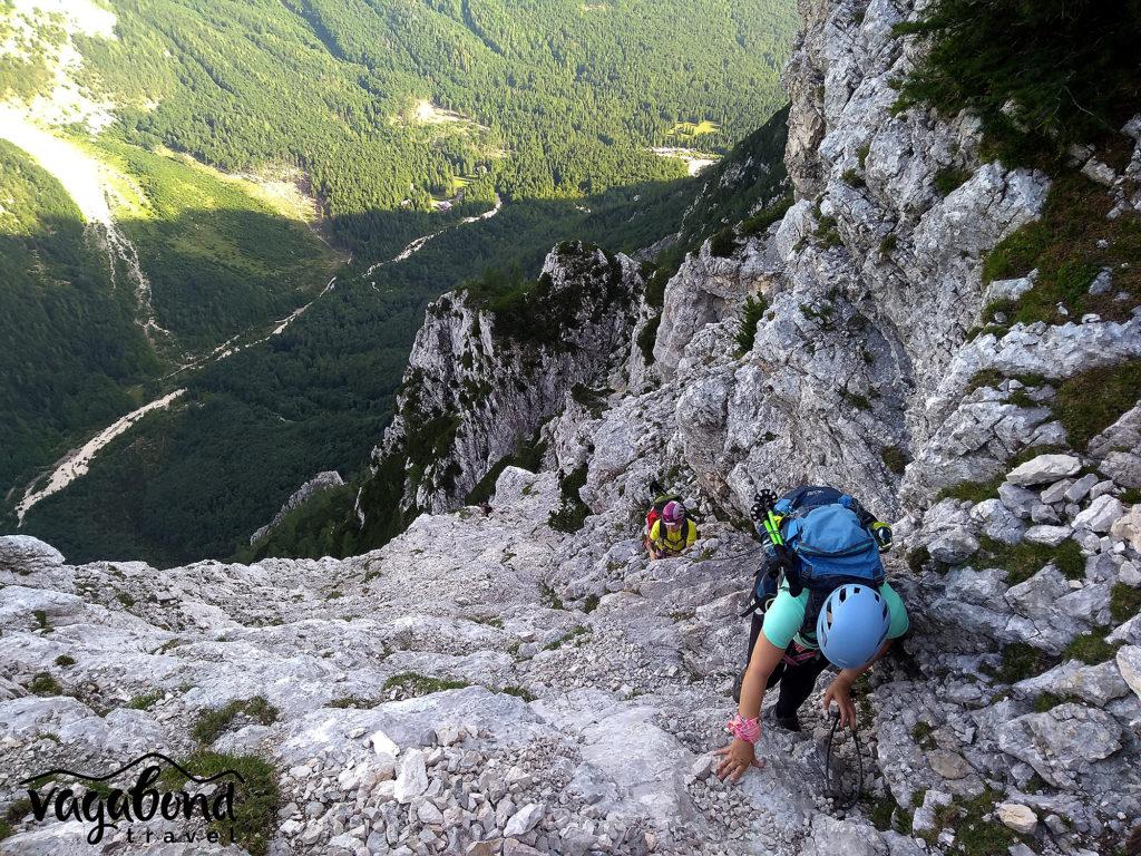 По пътеката за изкачване на Триглав през долината Vrata