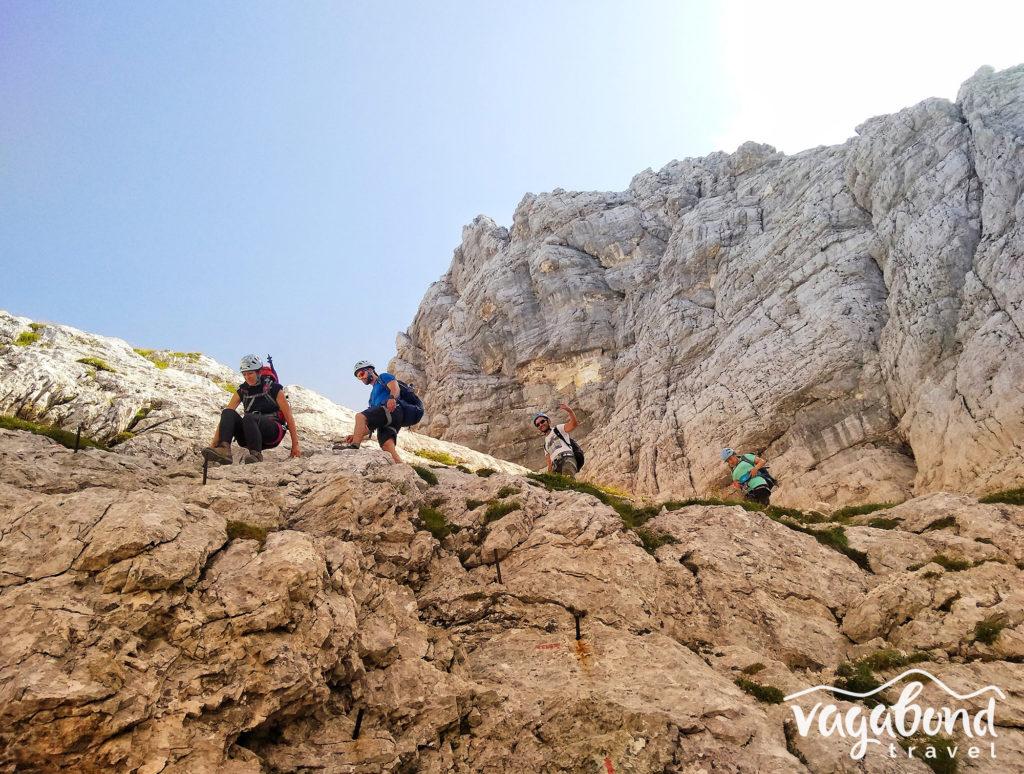 Слизане към долината Vrata след успешно изкачване на Триглав